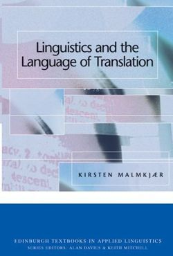 Linguistics and the Language of Translation