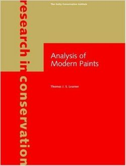 Analysis of Modern Paints (Research in Conservation)