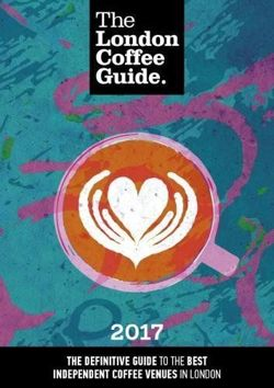 The London Coffee Guide 2017